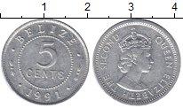 Изображение Монеты Белиз 5 центов 1991 Алюминий XF
