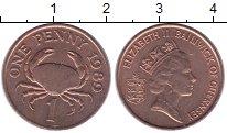 Изображение Монеты Гернси 1 пенни 1989 Медь XF