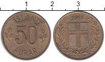 Изображение Монеты Исландия 50 аурар 1969 Медно-никель XF