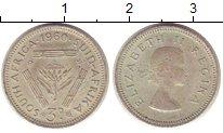 Изображение Монеты ЮАР 3 пенса 1960 Серебро XF-