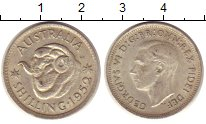 Изображение Монеты Австралия 1 шиллинг 1952 Серебро VF Георг VI