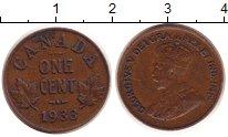Изображение Монеты Канада 1 цент 1933 Медь XF-