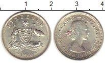 Изображение Монеты Австралия 6 пенсов 1960 Серебро XF