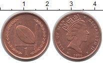 Изображение Монеты Остров Мэн 1 пенни 1996 Бронза UNC