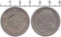 Изображение Монеты ЮАР 2 шиллинга 1894 Серебро XF