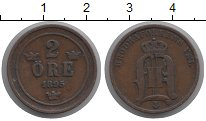 Изображение Монеты Швеция 2 эре 1895 Бронза XF