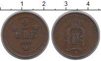 Изображение Монеты Швеция 2 эре 1891 Бронза XF