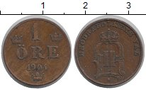 Изображение Монеты Швеция 1 эре 1904 Бронза XF Оскар II.
