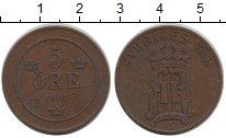 Изображение Монеты Швеция 5 эре 1907 Бронза XF
