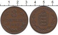 Изображение Монеты Великобритания Гернси 8 дублей 1947 Бронза XF
