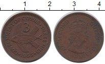 Изображение Монеты Кипр 3 милс 1955 Бронза XF