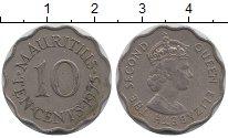 Изображение Монеты Маврикий 10 центов 1975 Медно-никель XF-