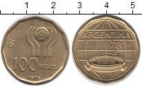 Изображение Монеты Аргентина 100 песо 1978 Латунь UNC-
