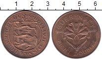 Изображение Монеты Гернси 8 дублей 1956 Медь XF