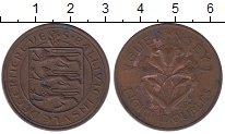 Изображение Монеты Гернси 8 дублей 1959 Медь XF- Флора.