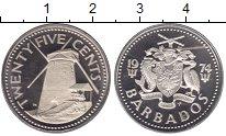 Изображение Монеты Барбадос 25 центов 1974 Медно-никель Proof-