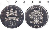 Изображение Монеты Ямайка 20 центов 1976 Медно-никель Proof Флора.