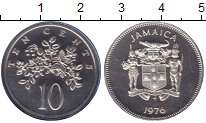 Изображение Монеты Ямайка 10 центов 1976 Медно-никель Proof Флора.
