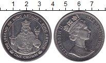 Изображение Монеты Остров Мэн 1 крона 1996 Медно-никель XF