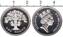 Изображение Монеты Великобритания 1 фунт 1987 Серебро UNC Елизавета II