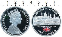 Изображение Монеты Гибралтар 5 фунтов 2004 Серебро Proof