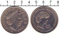 Изображение Монеты Великобритания 5 фунтов 1999 Медно-никель UNC- Принцесса Диана