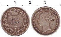 Изображение Монеты Великобритания 6 пенсов 1884 Серебро VF