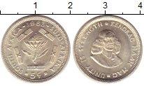 Изображение Монеты ЮАР 5 центов 1963 Серебро UNC Цветок