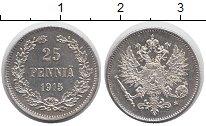 Изображение Монеты 1894 – 1917 Николай II 25 пенни 1915 Серебро XF