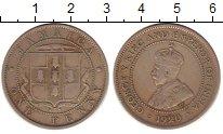 Изображение Монеты Ямайка 1 пенни 1920 Медно-никель VF