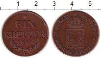 Монета Австрия 1 крейцер Медь 1816 XF