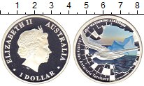Изображение Монеты Австралия 1 доллар 2014 Серебро Proof Цифровая  печать.  Е