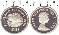 Изображение Монеты Фолклендские острова 10 фунтов 1979 Серебро Proof- Утки