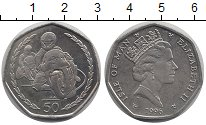 Изображение Монеты Остров Мэн 50 пенсов 1996 Медно-никель UNC
