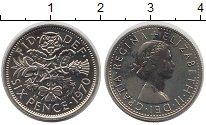 Изображение Монеты Великобритания 6 пенсов 1970 Медно-никель UNC