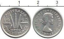 Изображение Монеты Австралия 3 пенса 1962 Серебро XF+