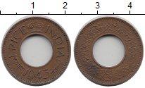 Изображение Монеты Индия 1 пайс 1943 Бронза XF
