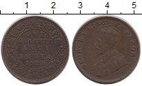 Изображение Монеты Индия 1/4 анны 1920 Бронза XF