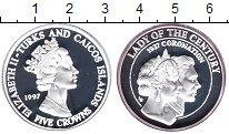 Изображение Монеты Великобритания Теркc и Кайкос 5 крон 1997 Серебро Proof