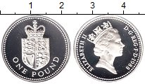 Изображение Монеты Великобритания 1 фунт 1988 Серебро Proof-