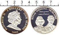 Изображение Монеты Острова Кука 5 долларов 2005 Серебро Proof-