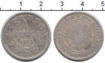Изображение Монеты 1855 – 1881 Александр II 1 марка 1872 Серебро VF