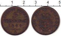 Изображение Монеты Германия Пруссия 3 пфеннига 1860 Медь XF