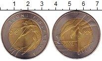 Изображение Монеты Финляндия 5 евро 2005 Биметалл UNC- ЧМ по легкой атлетик