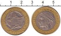 Изображение Монеты Италия 1000 лир 1998 Биметалл XF Карта  объединённой