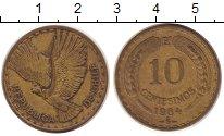 Изображение Монеты Чили 10 сентесим 1964 Латунь XF