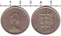 Изображение Монеты Остров Джерси 10 пенсов 1980 Медно-никель XF номинал, герб и дата