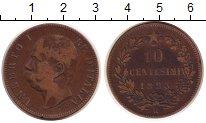 Изображение Монеты Италия 10 сентесим 1893 Бронза VF