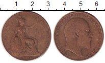 Изображение Монеты Великобритания 1 пенни 1906 Бронза VF Эдуард VII.