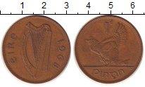 Изображение Монеты Ирландия 1 пенни 1968 Бронза XF Курица  с  цыплятами